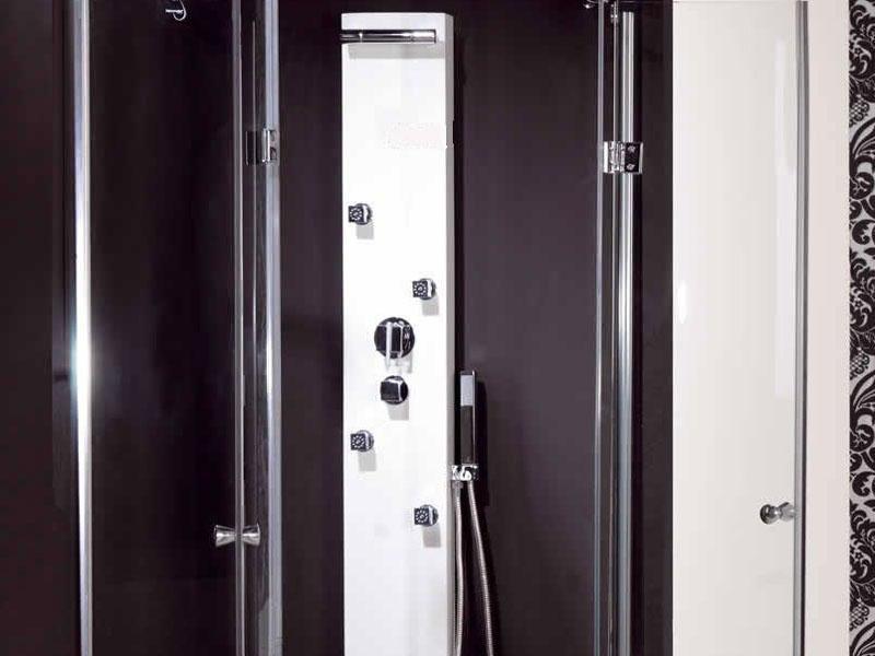 Accesorios De Baño Struch:Columna de hidromasaje de 140 cm alto por 20 cm de ancho, con griferia